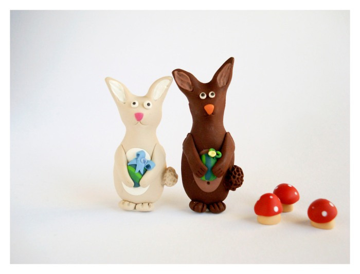 Easter Bunnies Brooches