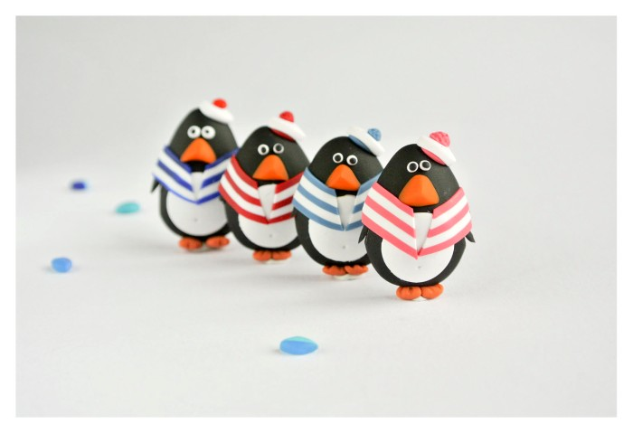 Sailor penguin brooches
