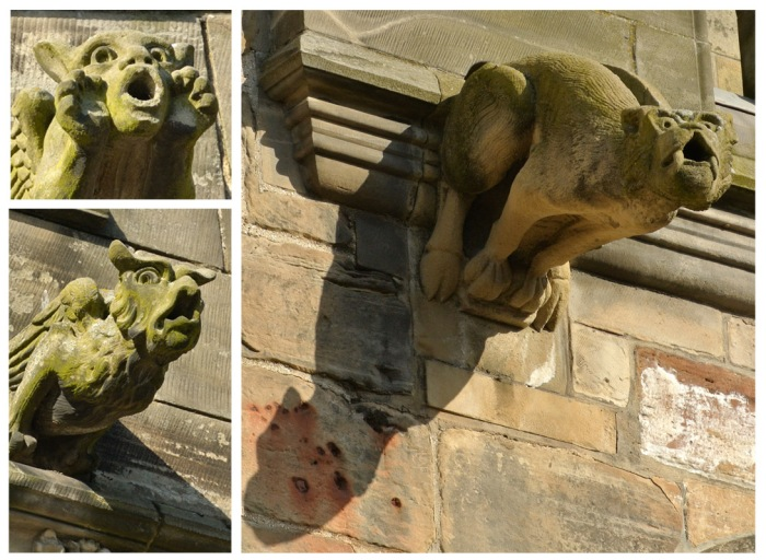Details of the gargoyles from the Holy Trinity Church in St. Andrews