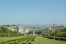 Lisbon, from the top of Parque Eduardo VII