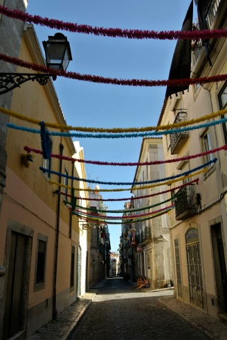 Bairro Alto streets dressed for summer celebrations