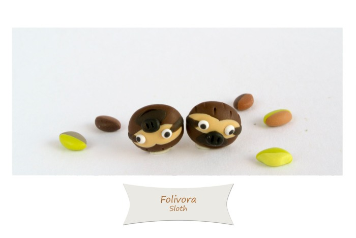 Sloth's post earrings, for a girl who loves sloths.