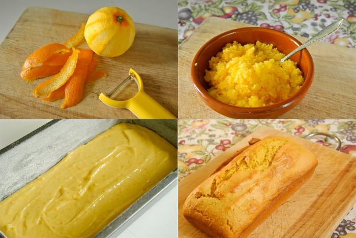 Orange sponge in the making