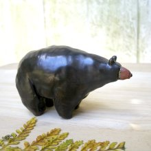 alnut Black Bear Stoneware Sculpture, Image Credits   by Studio by the Forest