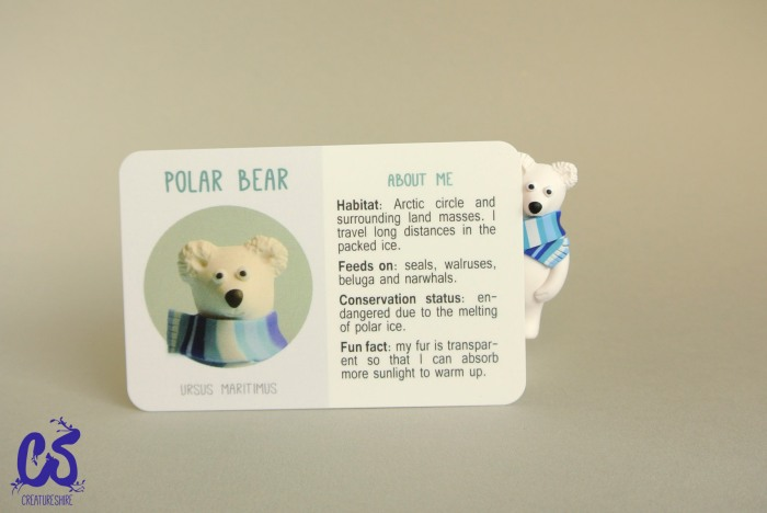Collectible creature card featuring the polar bear