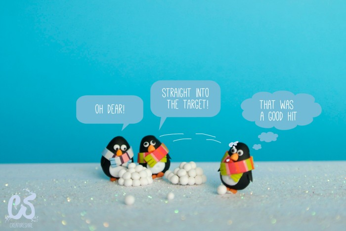 The penguins epic snowball fight
