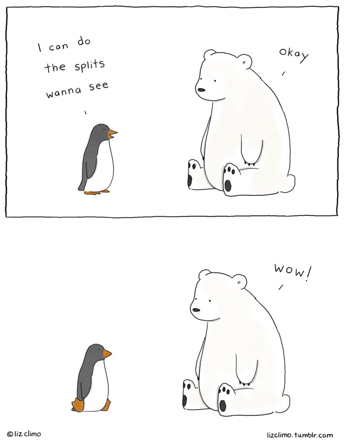 The cartoon that lead to the others. Image credits by Liz Climo