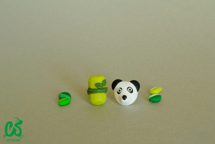 Panda and bamboo earrings by Creatureshire