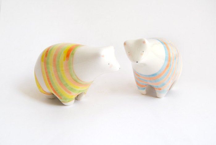 White bear figurines by Barruntando. All image credits by Barruntando.