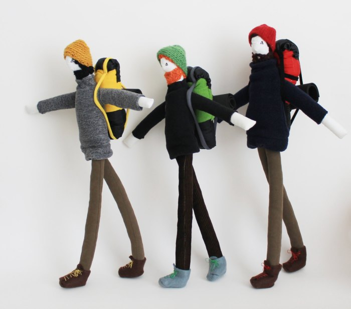 Mountain backpacker dolls by Fulana, Beltrana e Sicrana Image Credits by Fulana, Beltrana e Sicrana