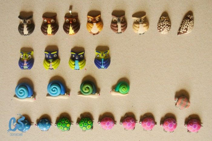Owlsm snails and turtles full of colour