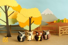 Owls by the chestnut trees
