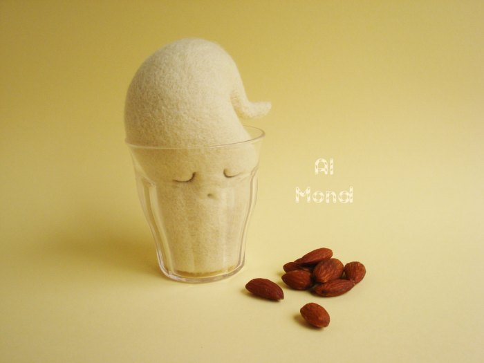 Al Mond Almond milk Art Toy by Maria Filipe Image credits by the Fabulous Creations of Maria Filipe