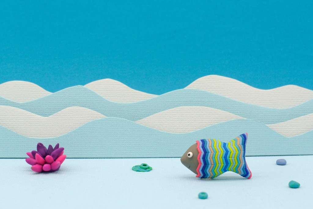 Fish and anemone celebrating World Oceans Day